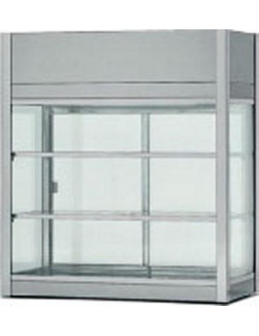 Cabinet 2 shelves in stainless steel 18/10