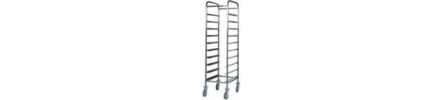 Tray-holder trolleys