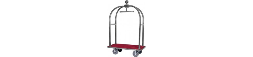 Trolley with clothes rack